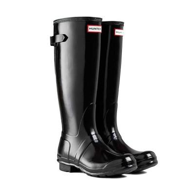 ハンター(HUNTER) レディース オリジナル バックアジャスタブルグロス ORG BACK ADJUST GLOS ブラック WFT1001RGL BLK 長靴 レインブーツ レインシューズ