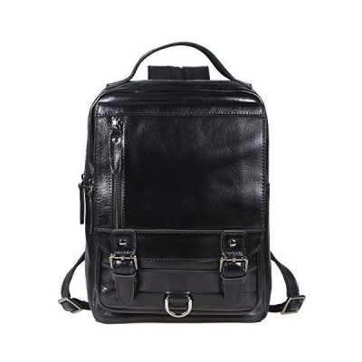 Lannsyne リュック メンズ 本革 ボディバッグ リュックサック 2way 大容量 A4対応 12.5インチiPad バックパック ビ
