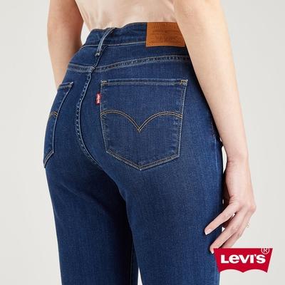 Levis 女款 721高腰緊身窄管牛仔長褲 精工深藍染水洗 天絲棉 彈性布料