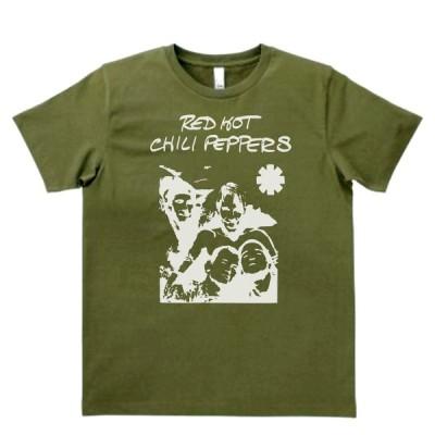 音楽・バンド・ロック・シネマ  Tシャツ  RED HOT CILIPEPPERS レッドホットチリペッパーズ カーキー MLサイズ