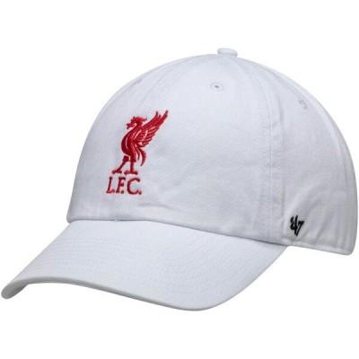 リバプールFC キャップ/帽子 SOCCER Clean Up Adjustable Hat 47 Brand ホワイト
