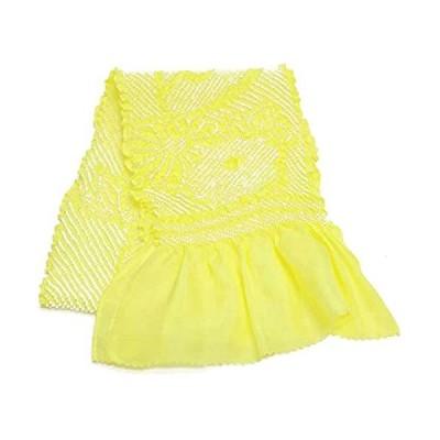 七五三 正絹 絞り帯揚げ 薄レモン obso02