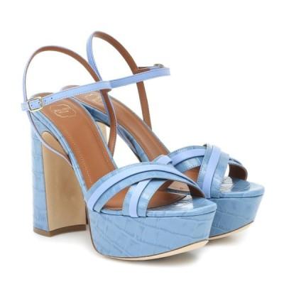 マローンスリアーズ Malone Souliers レディース サンダル・ミュール シューズ・靴 Mila 125 leather platform sandals Baby Blue/Baby Blue
