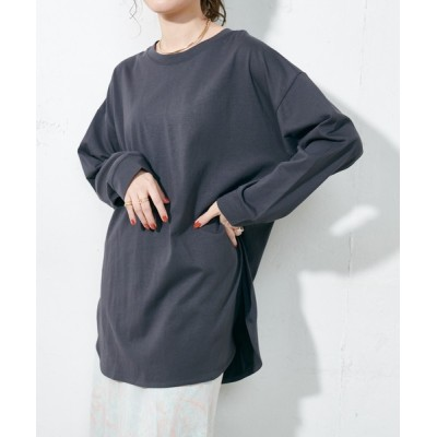 Discoat / 裾ラウンドプルオーバー WOMEN トップス > Tシャツ/カットソー