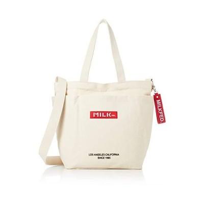 [ミルクフェド] ロゴ ビッグキャンバスバッグ BAR AND UNDER LOGO BIG CANVAS BAG 103201053013 A