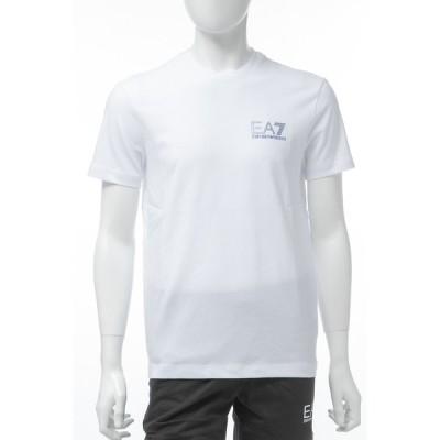 アルマーニ エンポリオアルマーニ Tシャツ 半袖 丸首 クルーネック メンズ 3GPT49 PJJ6Z ホワイト Emporio Armani EA7