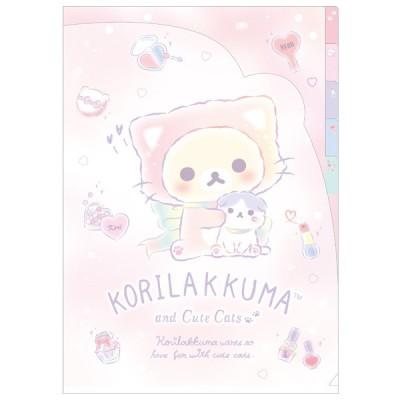 (8) リラックマ ダイカットインデックスホルダー KORIRAKKUMA and Cute Cats FA03102