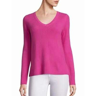 サックスフィフスアベニュー レディース トップス ニット  Basic Cashmere V-Neck Sweater