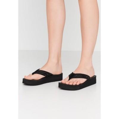 スケッチャーズ サンダル レディース シューズ VINYASA - T-bar sandals - black