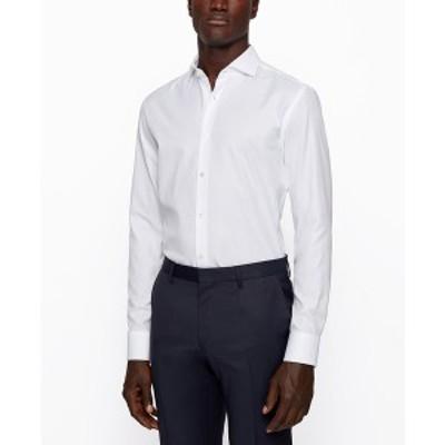 ヒューゴボス メンズ シャツ トップス BOSS Men's Jason Slim-Fit Shirt White