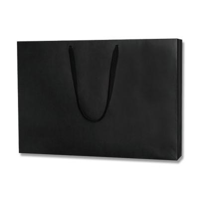 シモジマ 手提げバッグ ファッションバッグ LL 黒 10枚×1セット