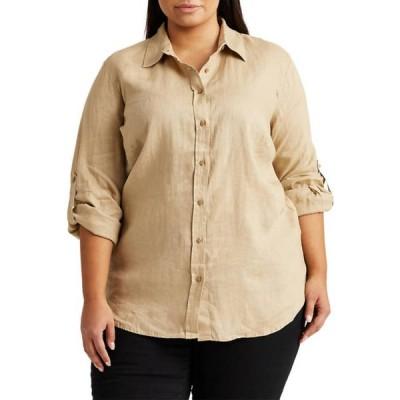 ラルフローレン レディース シャツ トップス  Plus-Size Linen Shirt