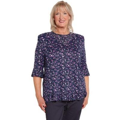 レディース 衣類 トップス Ovidis Knit Top for Women - Purple | Nancie | Adaptive Clothing - M ブラウス&シャツ