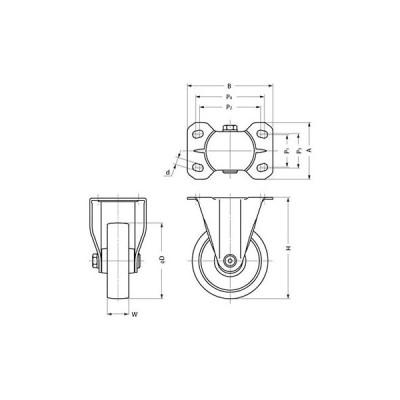 ステンレス鋼製キャスター SUS-SK型 スガツネ(LAMP) SUS-SK65-N 200134255