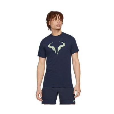 ナイキ(NIKE) メンズ レディース テニスウェア RAFA クレイ S/S Tシャツ オブシディアン/ライムグロウ DD2249 451 トップス Tシャツ 半袖 ゲームウェア 練習