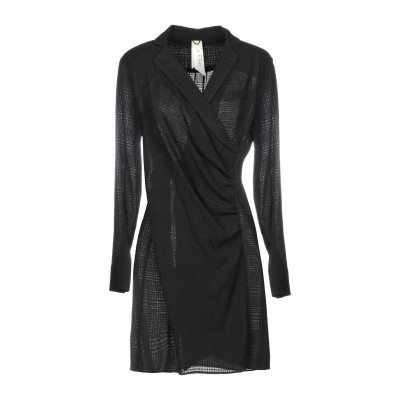 ANNIE P. ミニワンピース&ドレス ブラック 38 レーヨン 57% / アクリル 43% ミニワンピース&ドレス