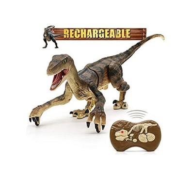 輸入商品 Hot Bee Remote Control Dinosaur Toys, Walking Robot Dinosaur w/ LED Light U 人気商品
