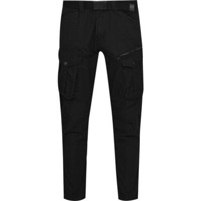 ノー フィア No Fear メンズ カーゴパンツ ボトムス・パンツ Belted Cargo Trousers Black