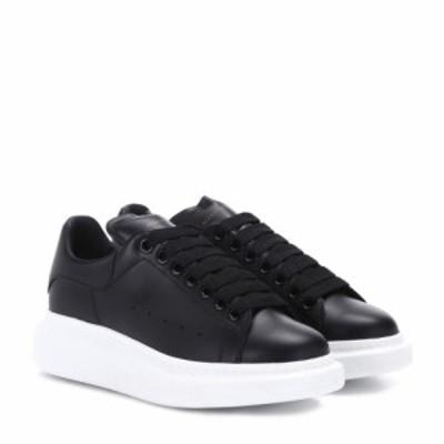 アレキサンダー マックイーン Alexander McQueen レディース スニーカー シューズ・靴 Leather platform sneakers Black