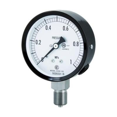 ■長野 普通形圧力計(A枠立形・φ75・G3/8B・0.0~0.16Mpa)【4984404:0】