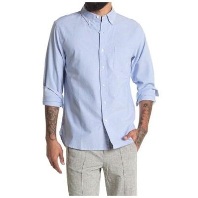 アレックスミル メンズ シャツ トップス Regular Fit Oxford Shirt Blue
