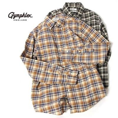 メンズ/Gymphlex/ジムフレックス/マドラスチェックシャツ/品番:J-0643BGM