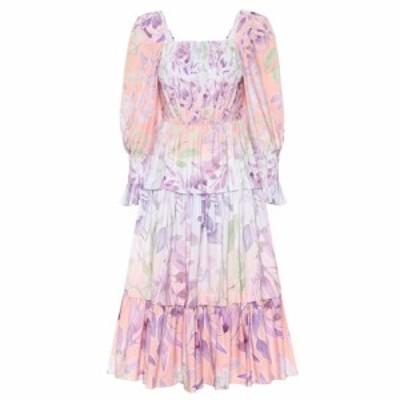 ピーター ピロット Peter Pilotto レディース ワンピース ワンピース・ドレス Floral cotton dress Wisteria