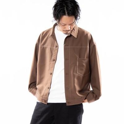 長袖シャツ メンズ ストレッチ ビッグシルエット オーバーサイズ シャツジャケット ワークシャツ ミリタリーシャツ ルーズシャツ ビッグシャツ カジュアルシャツ