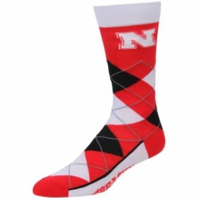 For Bare Feet フォー ベア フィート スポーツ用品  For Bare Feet Nebraska Cornhuskers Argyle Crew Socks