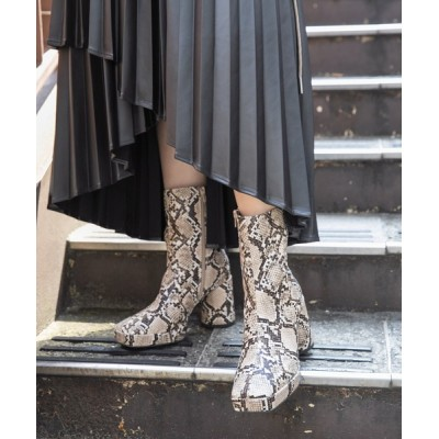 HARE / スクエアショートブーツ(HARE) WOMEN シューズ > ブーツ