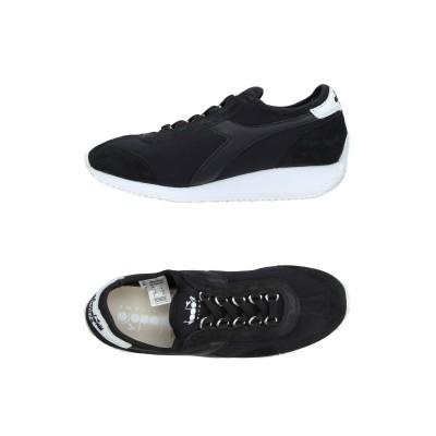 DIADORA HERITAGE スニーカー&テニスシューズ(ローカット) ブラック 3 革 紡績繊維 スニーカー&テニスシューズ(ローカット)