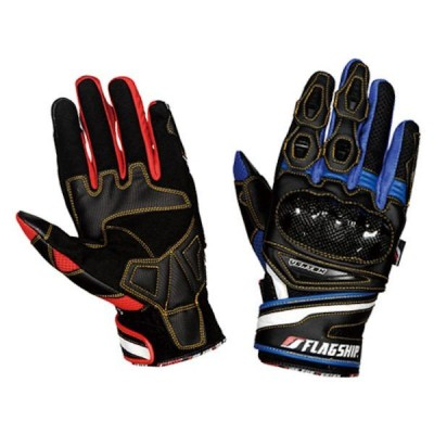 FG-S202 FLAG SHIP Carbon Force Mesh Glove カーボンフォースメッシュグローブ ブルー M〜LLサイズ