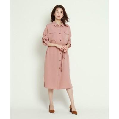 COUP DE CHANCE/クードシャンス 【洗える】リラクショントロシャツワンピース ピンク(072) 38(M)