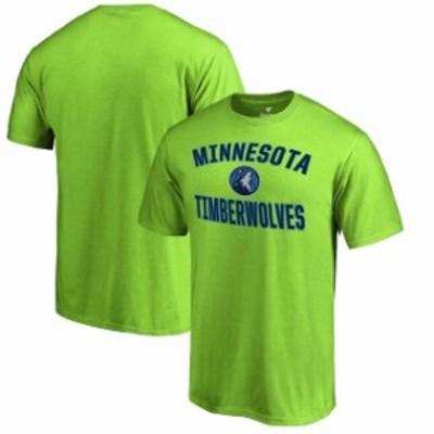 Fanatics Branded ファナティクス ブランド スポーツ用品  Fanatics Branded Minnesota Timberwolves Neon Green Victory Arch T-Shirt