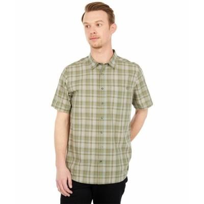 5.11タクティカル シャツ トップス メンズ Wyatt Short Sleeve Plaid Shirt Tank Green Plaid