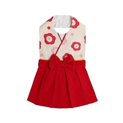 ベビー 袴 フォーマル スタイ よだれかけ 和装 ビブ 190408-1 (レッド, 〜2歳)