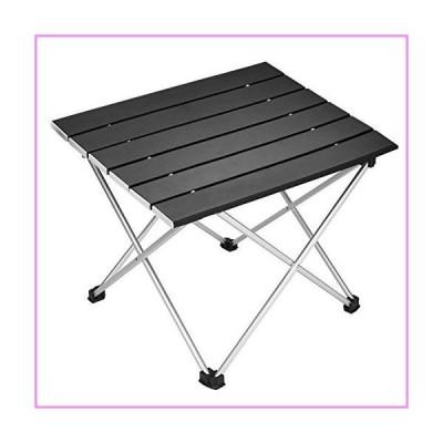 【送料無料】Portable Camping Table,Aluminum Folding Table Ultralight Camp Table with Carry Bag Collapsible Table Top for Picnic,Cookin