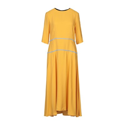 マルニ MARNI 7分丈ワンピース・ドレス オークル 38 アセテート 69% / シルク 31% 7分丈ワンピース・ドレス