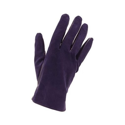 Attivo ラムスキン レザー グローブ スエード 裏起毛 本革 手袋 [パープル 紫 レディースSサイズ] 羊革 女性 防寒