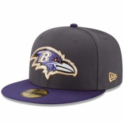 New Era ニュー エラ スポーツ用品  New Era Baltimore Ravens Graphite/Purple Gold Collection On Field 59FIFTY Fitted Hat