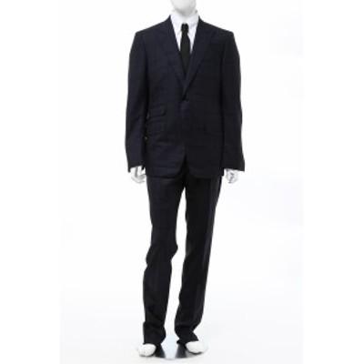 トムフォード TOM FORD スーツ シングル サイドベンツ ピークドラペル 2つボタン ネイビー メンズ (811R69 21YL4C) 送料無料 2020年秋冬