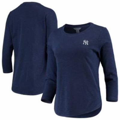 Tommy Bahama トミー バハマ スポーツ用品  Tommy Bahama New York Yankees Womens Heathered Navy Sport Ashby 3/4-Sleeve T-Shirt