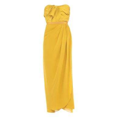 ジャンバティスタ ヴァリ GIAMBATTISTA VALLI 7分丈ワンピース・ドレス イエロー 42 シルク 100% / ナイロン / ポリウ