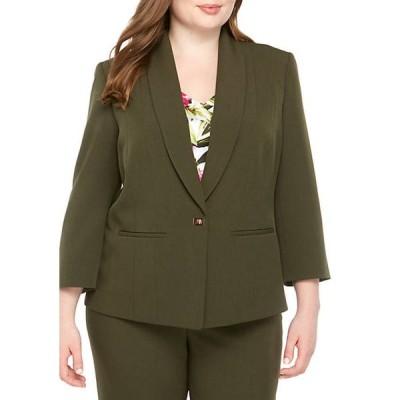 カスパール レディース ジャケット・ブルゾン アウター Plus Size 1 Buckle Shawl Collar Jacket