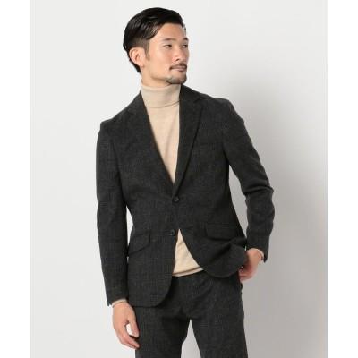【ノーリーズ】 ラムウール セットアップ テーラードジャケット メンズ ブラック・グレー系1 M NOLLEY'S