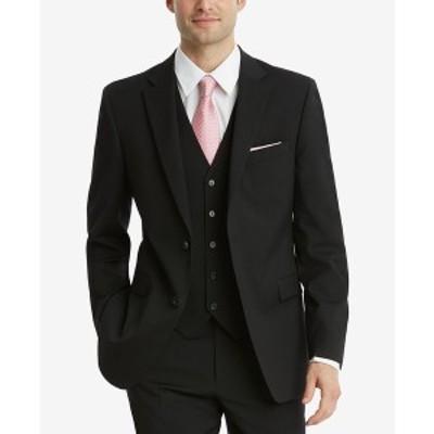 トミー ヒルフィガー メンズ ジャケット&ブルゾン アウター Men's Modern-Fit TH Flex Stretch Suit Jackets Black
