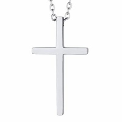 PROSTEEL Stainless Steel Cross Necklaces Pendants Teens Boy Silver Birthday Men Women Simple Faith Cross Necklace