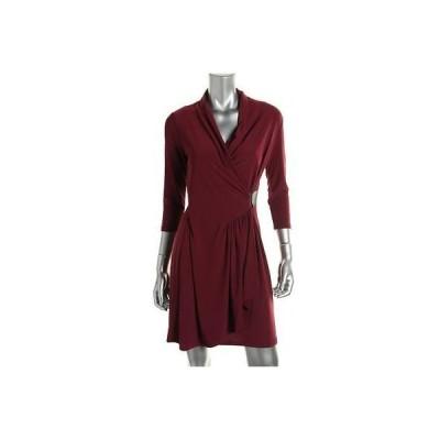 ドレス 女性  アルファーニ Alfani 0730 レディース ストレッチ 3/4 スリーブs ミドル丈 Wear to Work ドレス Petites