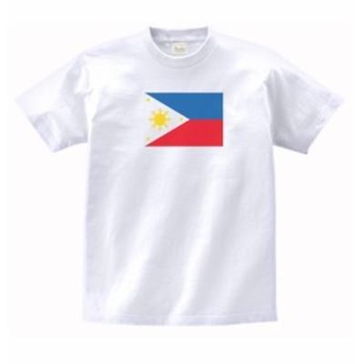 国 国旗 Tシャツ フィリピン 白
