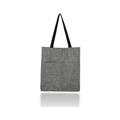 Pi&C エコバッグ 買い物袋 男性 トート 大容量 コンパクト 肩のせ マチ 折りたたみ 肩掛け レジ袋 (グレー)